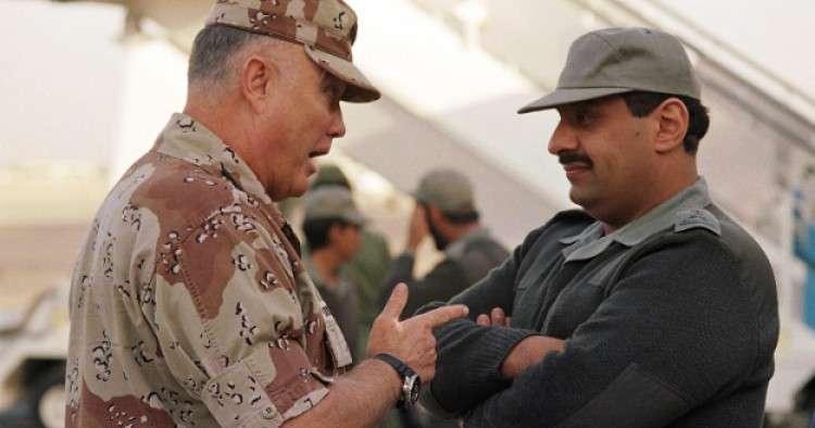 Il Gen. Schwarzkopf con il Gen. Khaled bin Sultan Al Saud